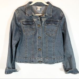 Cabi jean jacket with Pretty buttons